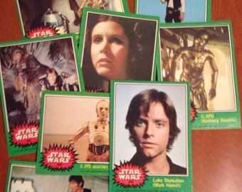 Vintage Star Wars 1977 Collectible Cards Lot