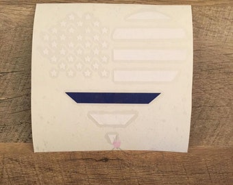Decal- Back the Blue Decal- Police Decal- American Flag Heart Decal- Yeti Decal- Yeti- Flower Decal- Policeman Decal