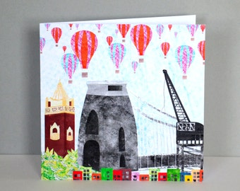 Bristol Collage Greetings Card