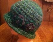 20's Flapper Crochet Cloche Bucket Style Hat