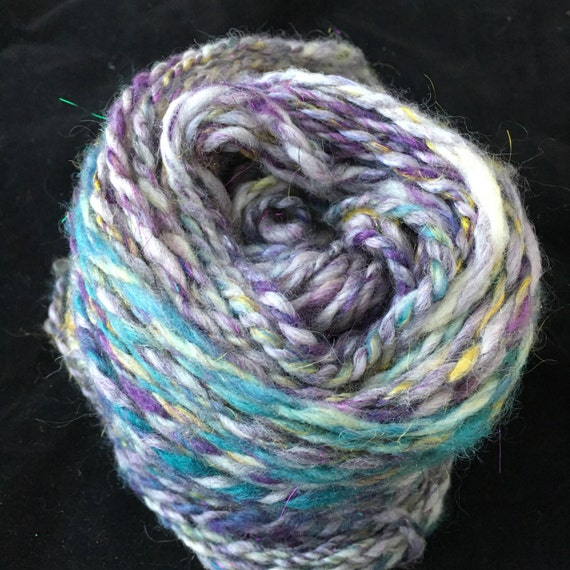 Heavy Worsted handspun mixed fiber batt