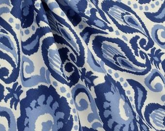 Ikat Blue Curtains SALE>>>>>>Custom made Drapes
