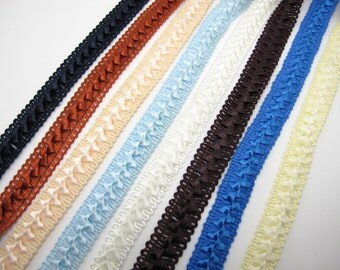 7 Colors|3 Yards 5/8 Inch Gimp Braided Trim|French Gimp Braided|Scroll Braid Trim|Decorative Embellishment Trim|Doll Trim|Home Decor