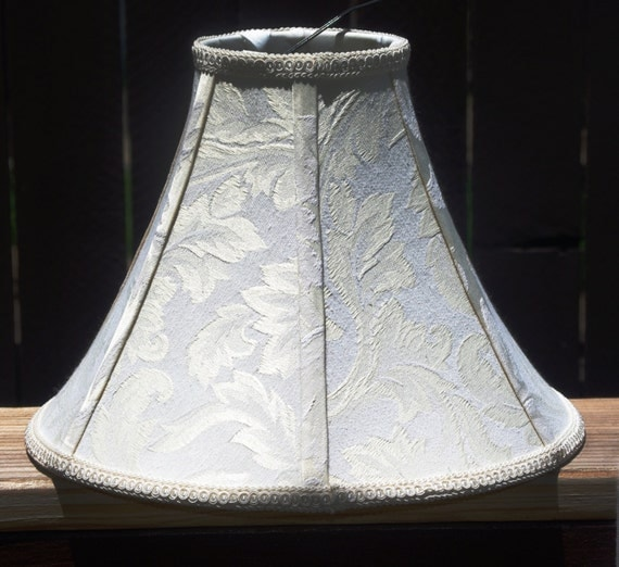 lamp shade supplies small off white with light yellow leaf pattern. Black Bedroom Furniture Sets. Home Design Ideas