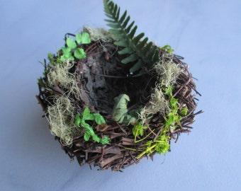 Birds Nest, place card holder, all natural