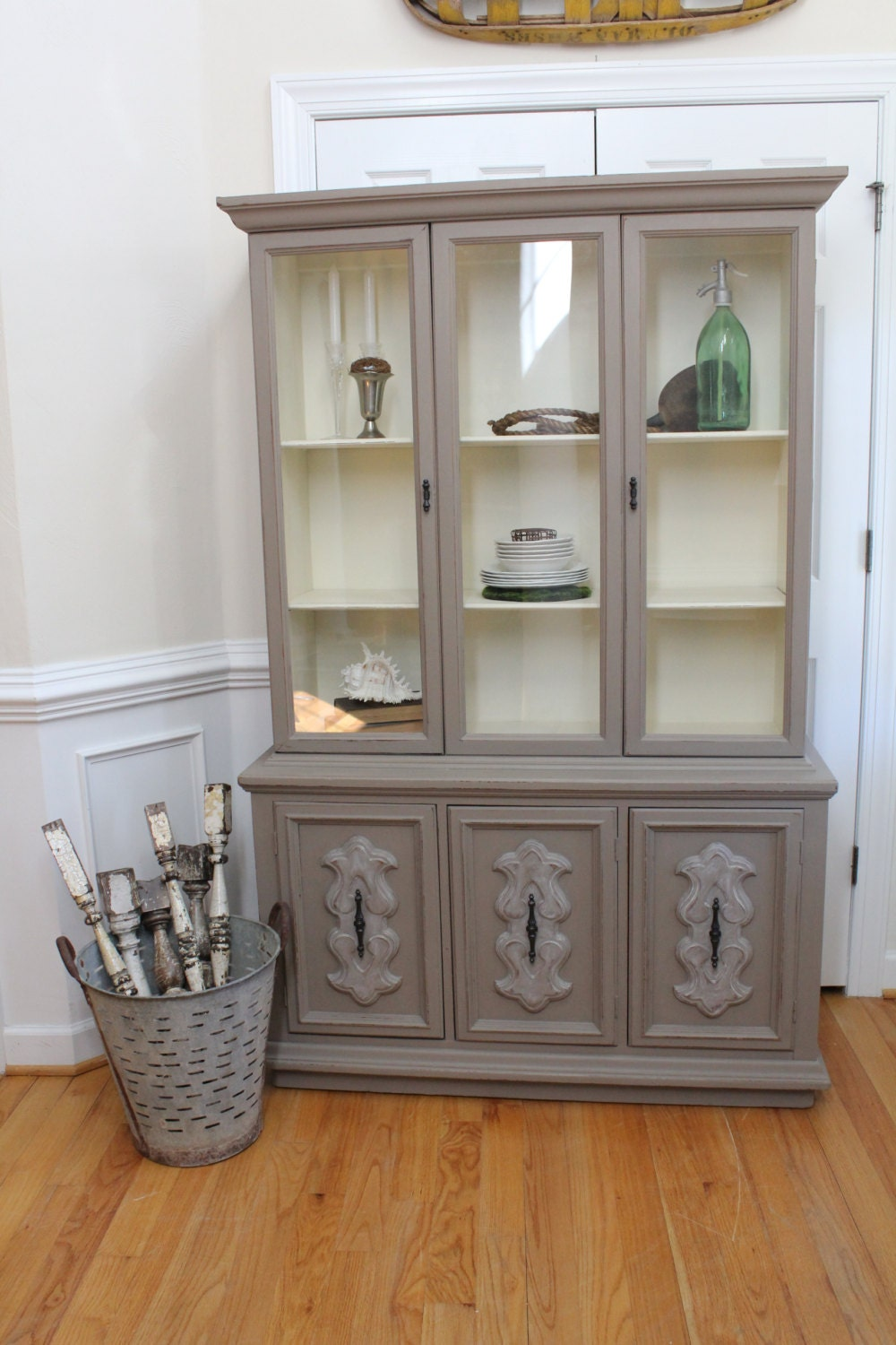 Vintage China Cabinet Annie Sloan Chalk Paint Coco Old