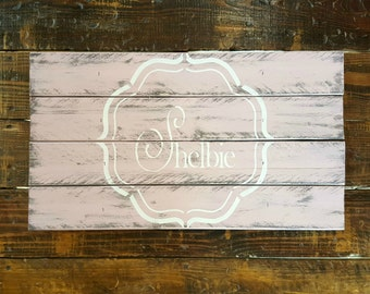 Personalized Rustic Name Pallet, Pallet Wedding Sign, Pallet Guest Book, Rustic Wedding Decor, Guest Book Alternative, Baby Shower Decor