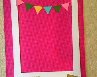polaroid style frame cutout, 1st birthday decoration, 1st birthday, picture frame, photobooth prop