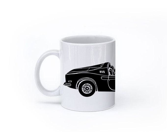 KillerBeeMoto:  U.S. Made Limited Release Italian Sports Car Coffee Mug (White)