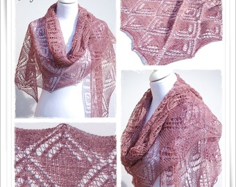 Knitting Pattern Lace Shawl Rosamunde