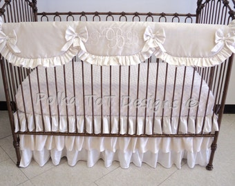 Pippa Bumperless Ruffled Luxe Baby Bedding