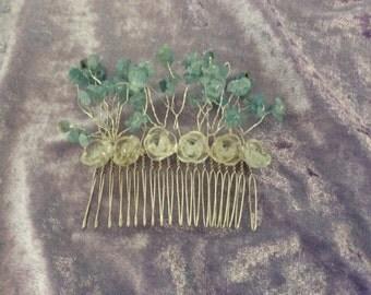 Wedding HAIR COMB - AQUAMARINE