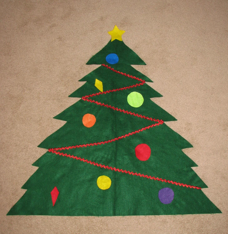 felt christmas tree toddler christmas tree by rosebottomdiapers. Black Bedroom Furniture Sets. Home Design Ideas