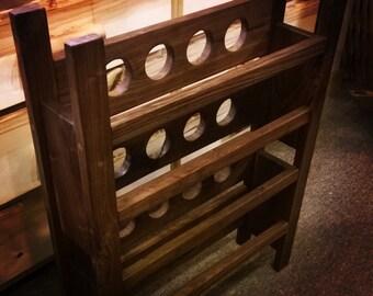 rack bois vin etsy. Black Bedroom Furniture Sets. Home Design Ideas