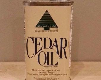 Giles and Kendall Cedar Oil 8 oz., 32 oz. - New