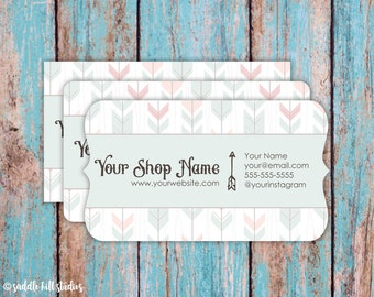 Business Cards - Custom Business Cards - Personalized Business Cards - Mommy Calling Cards - Tribal Feathers - P0101-7