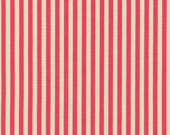 Red and Tan Stripe Fabric - By The Yard - Boy / Girl / Gender Neutral
