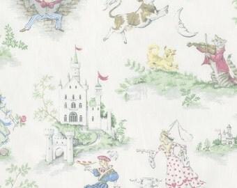 Nursery Rhyme Toile Fabric - By The Yard - Arrow / Gender Neutral