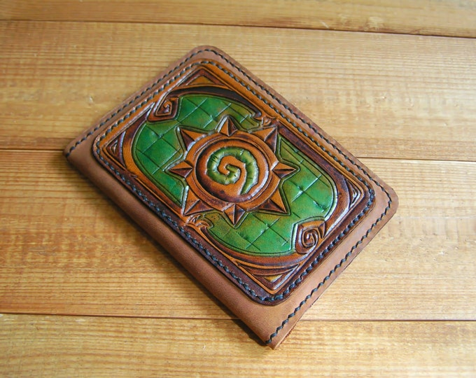 Travel cover, Leather cover, passport cover, hearthstone, Passport Cover Case Holder - Travel