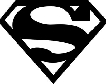 Super Hero Vinyl Decal- Car Decal- Yeti Decal- Superman - Batman - Spiderman