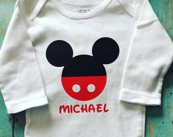 Mickey Mouse shirt wirh Personalization