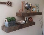 Rustic Floating Shelves, Shelving, Chunky Shelf, Floating Shelf, Wall Shelves, Home Decor, Farmhouse Shelves, Fixer Upper