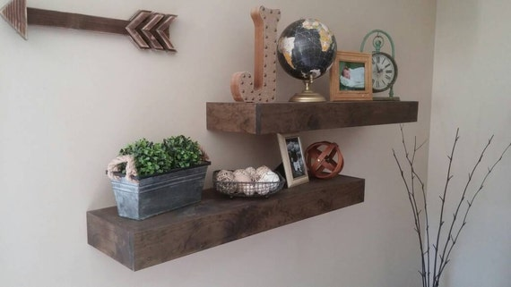 Rustic Floating Shelves Shelving Chunky Shelf By EJWoodworks