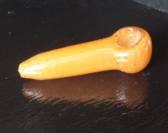 Small Tangerine Frit Spoon Pipe