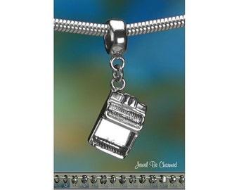 Sterling Silver Organ Charm or European Style Charm Bracelet .925