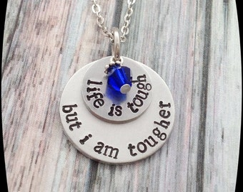 Colon Cancer awareness necklace, Breast Cancer jewelry, Cancer Healing gift,  Cancer Survivor Jewelry