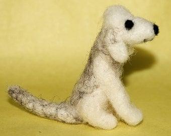 Needle Felted Bedlington Terrier, needle felt dog