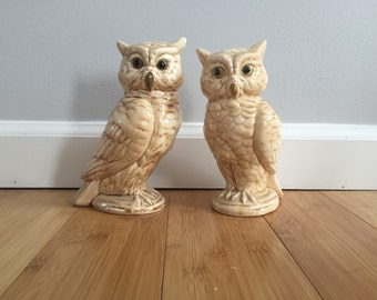 Set of two Norleans Ceramic Owls