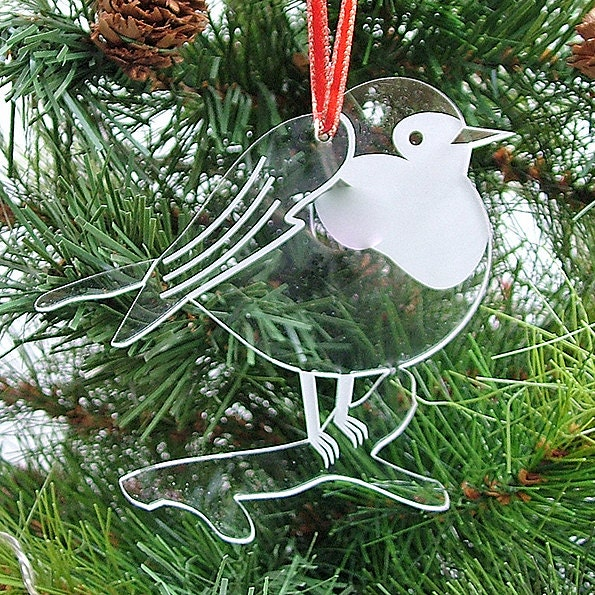 Red Robin Christmas Tree Decorations : Robin christmas tree decorations round on a branch