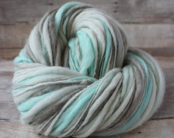 Handspun Thick and Thin Yarn - Super Bulky - Hand Dyed - Feline