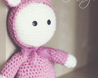 Crochet baby toddler toy Rose pink, Photo prop