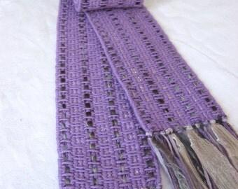 "Handwoven scarf - ""Jacaranda"""