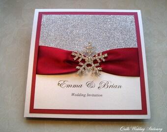 Frost. Snowflake Invitation. Winter Wedding. Wedding Invitation. Luxury Wedding Invitation.