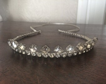 Bridal Rhinestone Tiara - A unique handmade tiara perfect for your special day