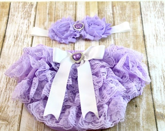 Lavender Diaper Cover and Headband, Summer Diaper Cover, Newborn Photo Prop, Diaper Cover, Photography Prop, Newborn Diaper Cover, Headband