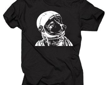 Space Dog T-Shirt Astronaut Laika Tee Shirt