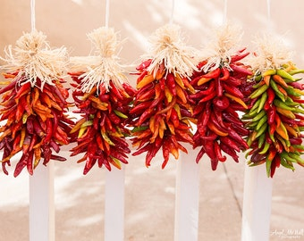 New Mexico Red Chiles Fine Art Photography Print Santa Fe Kitchen Wall Art