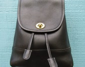 "Coach ~ Backpack ~ Black ~ Glove Tanned ~ Velvet ~ Vintage ~ Mint ~ Recycled ~ Small Size ~ 9"" X 6"" X 4"""