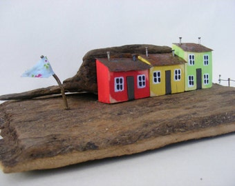 TY COCH ,  driftwood house by sea wizard