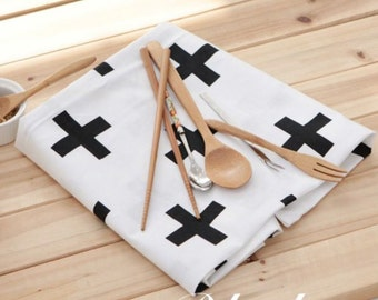 Cotton Fabric Plus Black & White By The Yard