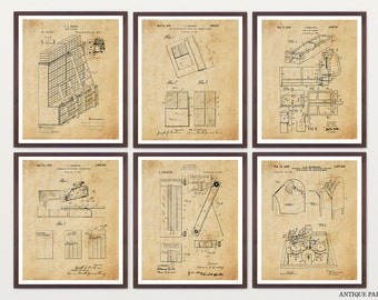 Inventions of the Library - Library Patent - Library Art - Librarian - Librarian Art - Librarian Patent - Library Poster - Card Catalog Art
