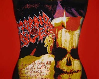 MORBID ANGEL diy d-ring cami  girly Covenant reconstructed death metal shirt XS S M L