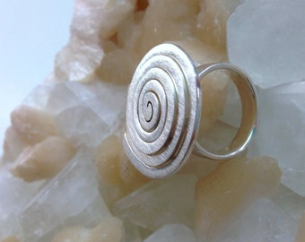 Spiral Ring Hand Crafted Sterling Silver