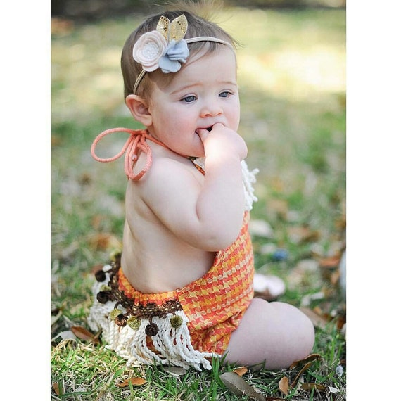 Girl Rompers Boho Romper Bohemian Clothing Baby by