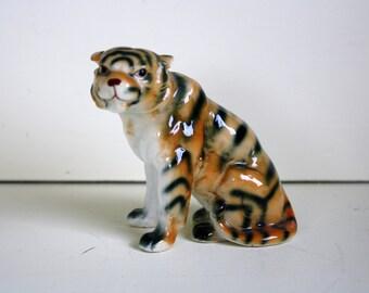 Tiger Figurine Jungle Cat Ceramic Cat