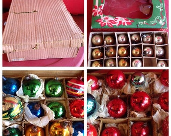 3 Boxes of 1940's-1950's Box of Ornaments